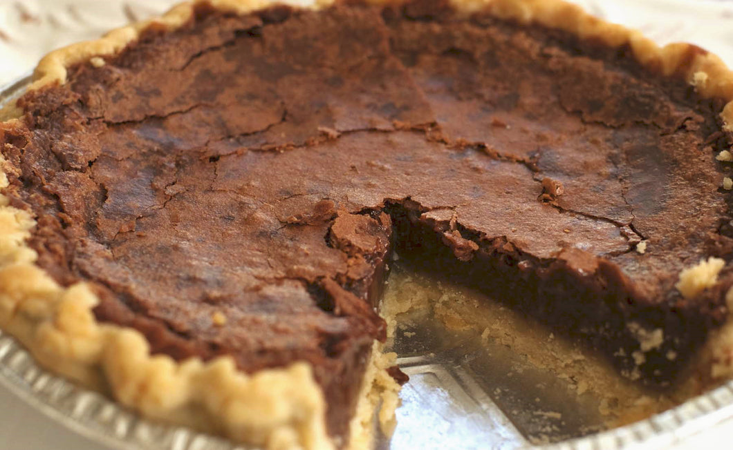 Ghirardelli Chocolate Pie - Made with dark bittersweet 60% cacao chocolate