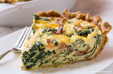 Load image into Gallery viewer, Spinach & Bacon Quiche