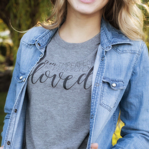 Imperfect But Perfectly Loved Soft Tri-Blend Tee