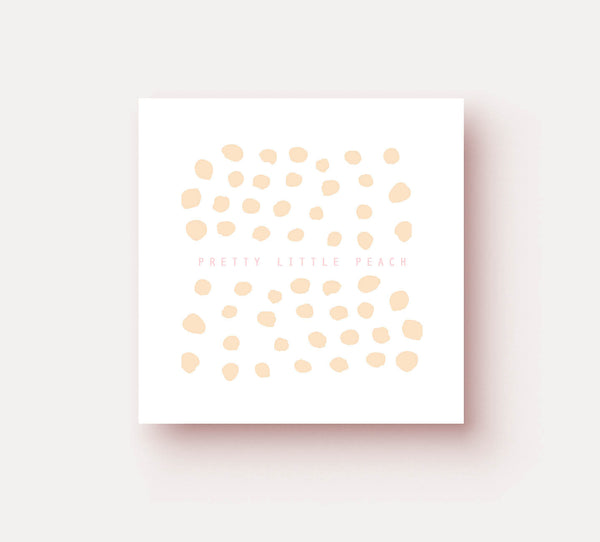 Pretty Little Peach Polka Dots