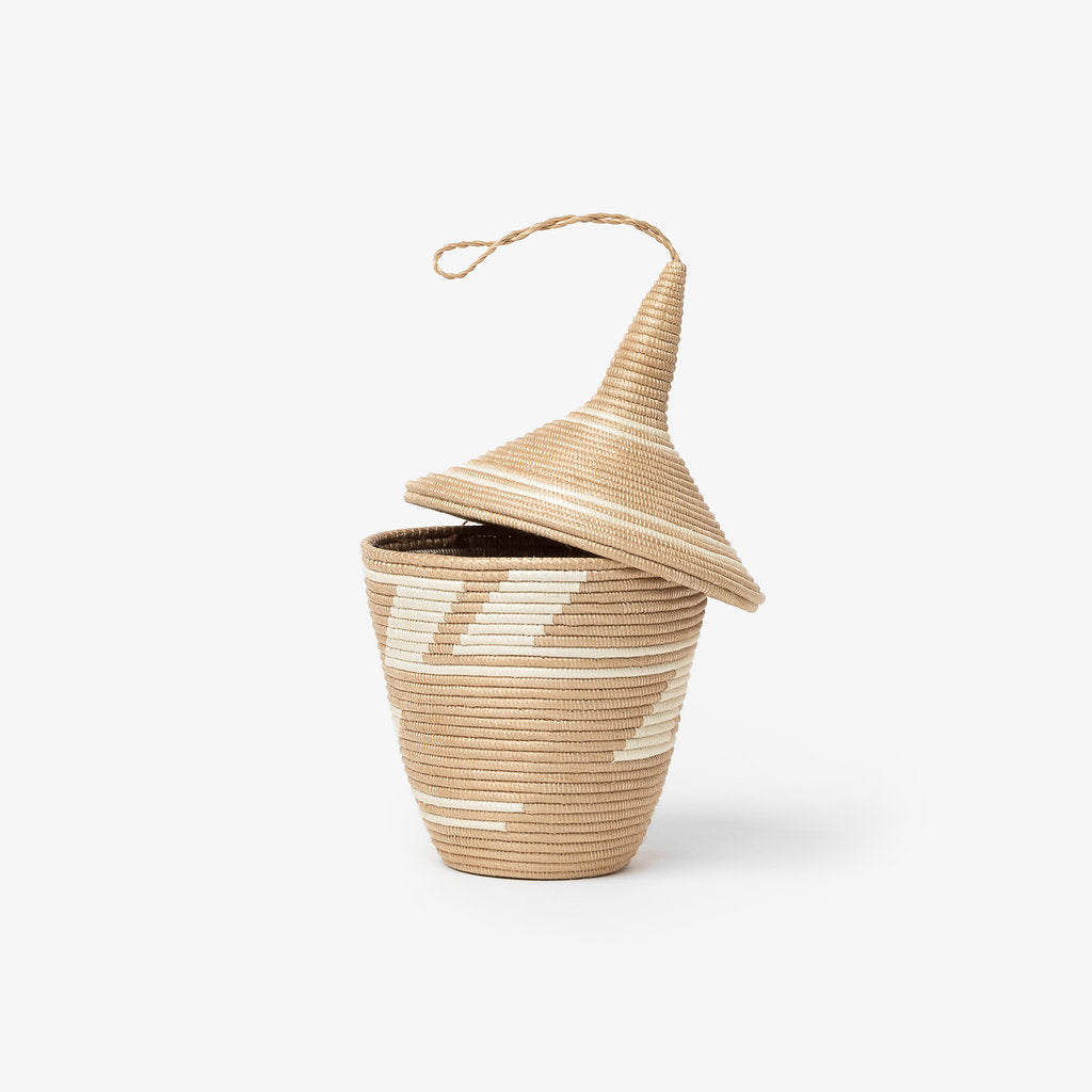 Sisal Lidded Peace Basket