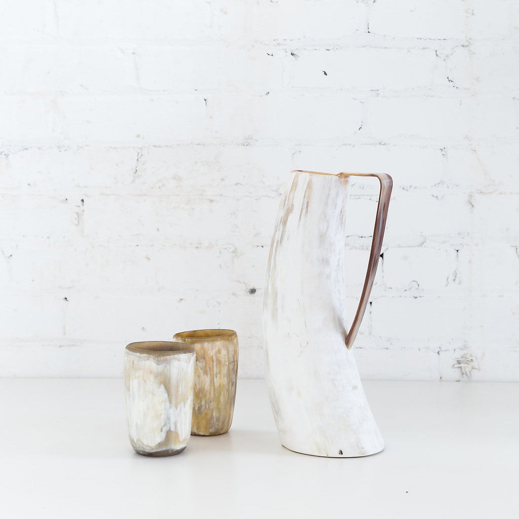 Ankole Cowhorn Tumbler - Light