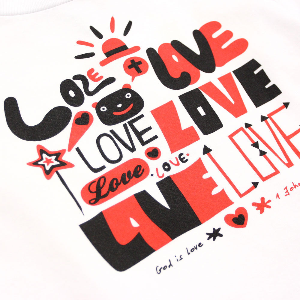 "White Graphic Tee ""God is Love"""