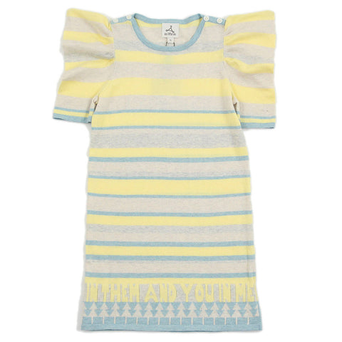 Girl Multi Color Stripes Knit Dress - _œI In Them And You In Me_?