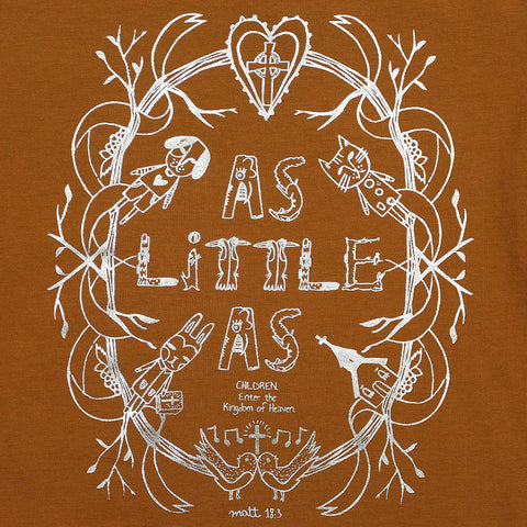 "Boy Brown Foil Graphic Tee - ""As Little As"" Creatures"