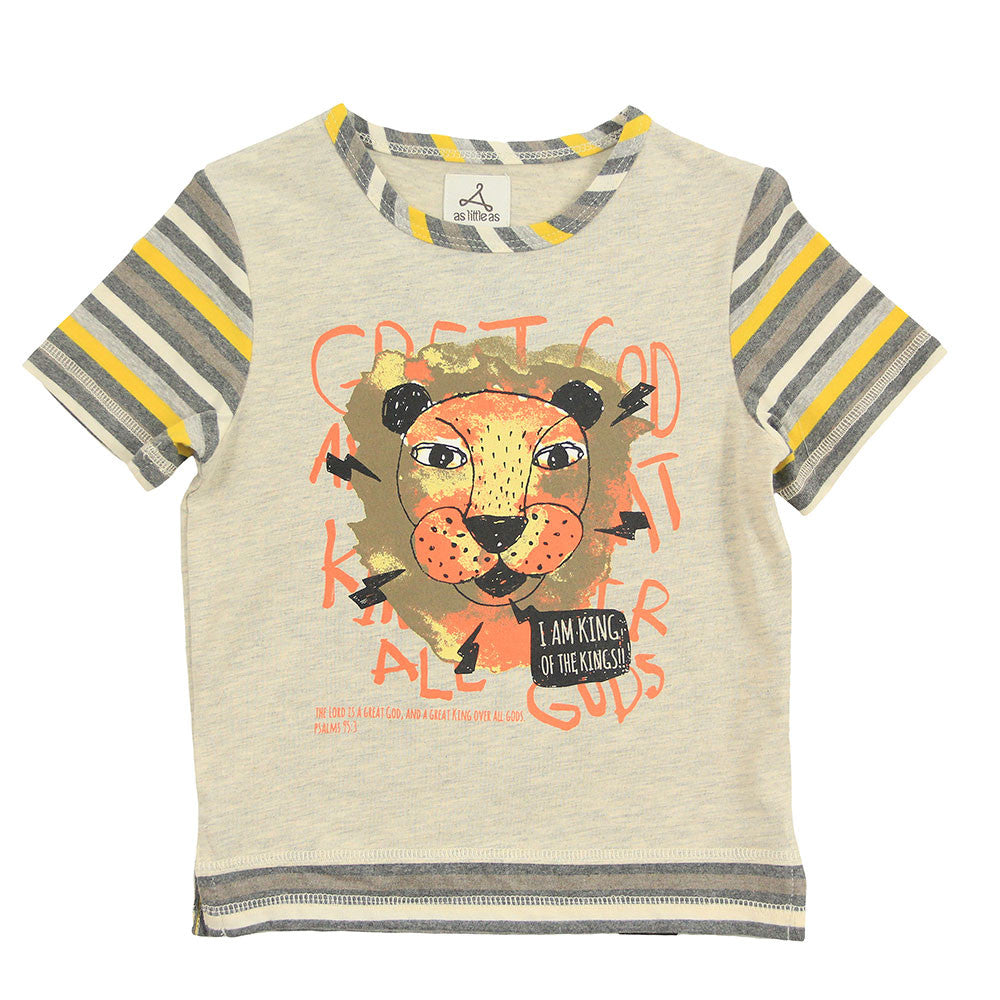 "Boy Yellow 2-in-1 Graphic Tee - ""King of Kings"""