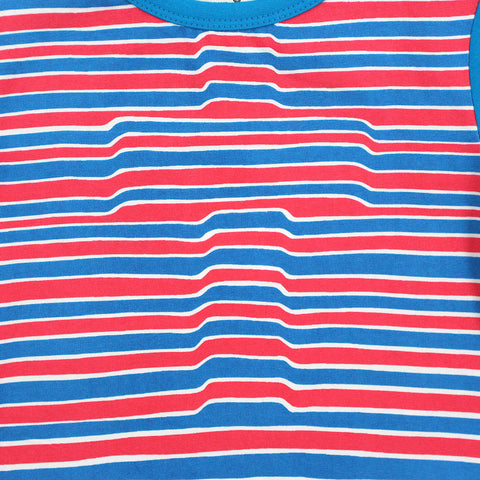 Boy Blue Stripes 3D Cross Tee
