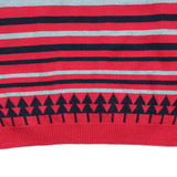 Red Multi Stripes Cotton Jumper -