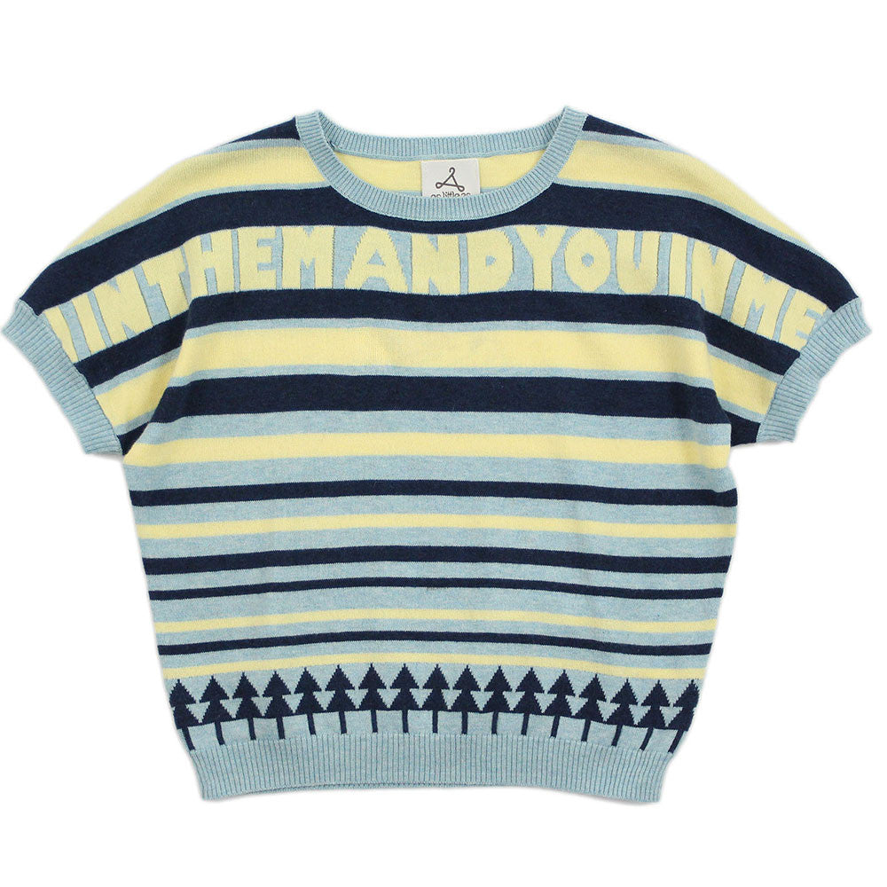 "Blue Multi Stripes Cotton Jumper - ""In HIM"""