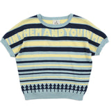 Blue Multi Stripes Cotton Jumper -
