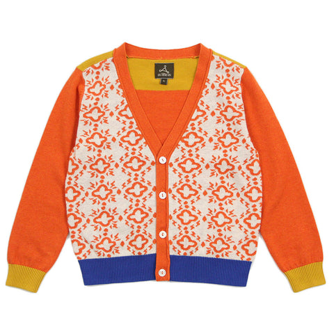 "Dad Size - Multi-Color Cross Textured Cardigan - ""Take Up Your Cross"""