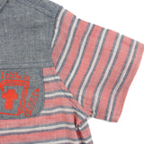 Boy Red Stripes Short Sleeves Shirt -