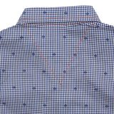 Boy Blue Check Short Sleeves Shirt -