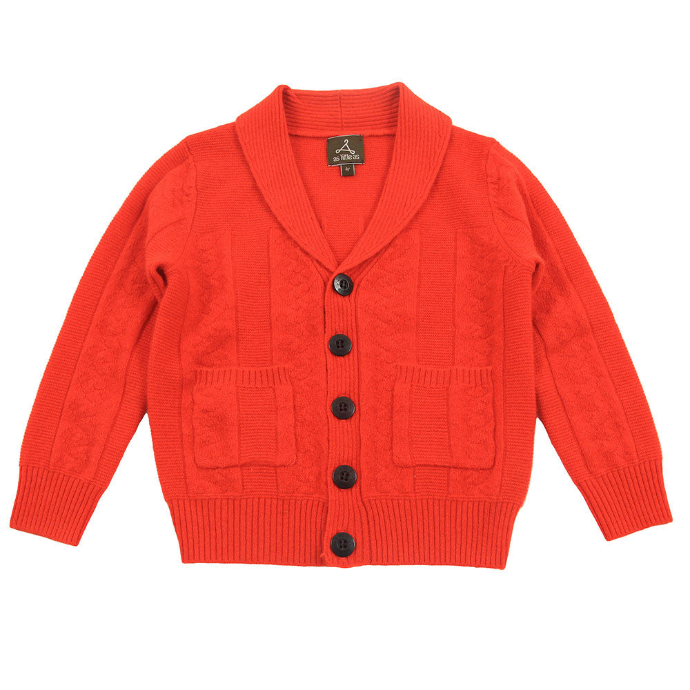 Orange Pure Cashmere Cardigan