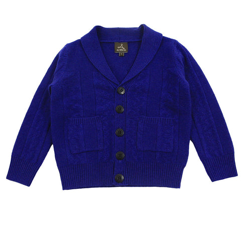 Blue Pure Cashmere Cardigan
