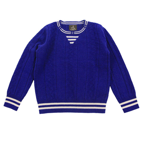 Blue Pure Cashmere Sweater