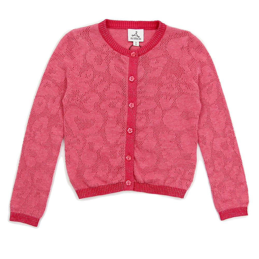 "Rose Red ""LOVE"" Lace Pattern Cardigan"