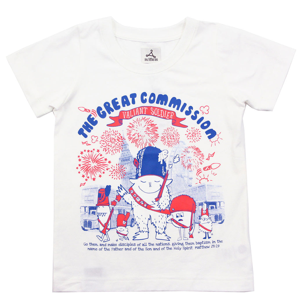 "White Tee - ""The Great Commission - Valiant Soldier"""