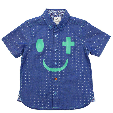 "Green ""Joy In Christ"" Dots Short Sleeves Shirt"