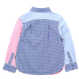 Royal Blue Check Shirt with Cross Pocket