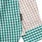 Green Check Shirt with Cross Pocket