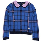 Blue Girl Scotland Check Wool Blend Sweater