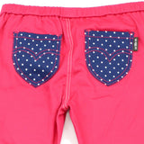 Red Polka Dots Pocket Cotton Jeggings