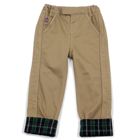 Brown Pick Stitch Detail Pants