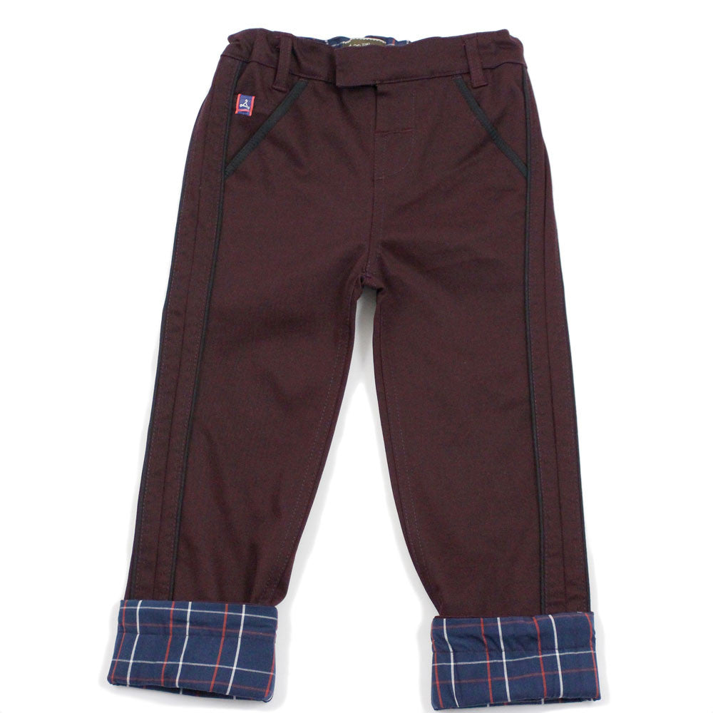 Burgundy Pick Stitch Detail Pants