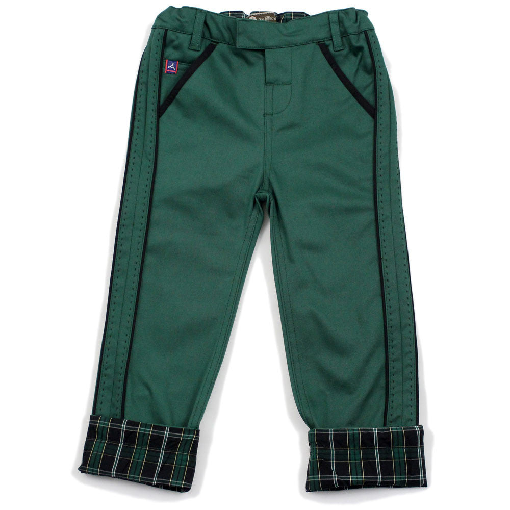 Green Pick Stitch Detail Pants
