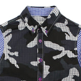 Grey Camouflage Cotton Shirt