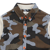 Brown Camouflage Cotton Shirt