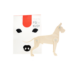 PSIKUSY. Remix Your dog / wooden blocks