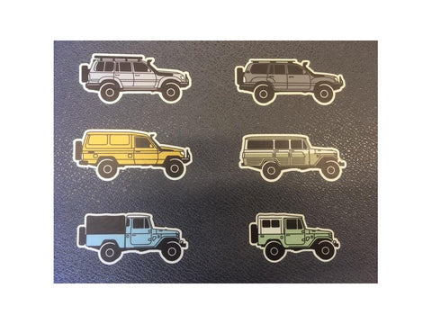 Landcruiser Stickers (Set of 6)
