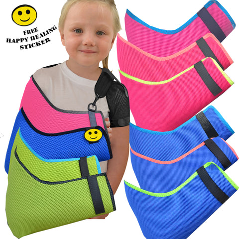 Arm Sling Anti Neckache DELUXE (CHILD/TEENS AGE SIZED) by 4DflexiSPORT® - 4DflexiSPORT