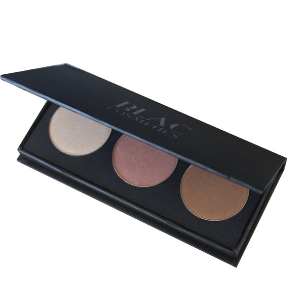 Illumintating Highlight, blush and contour Palette + Refills