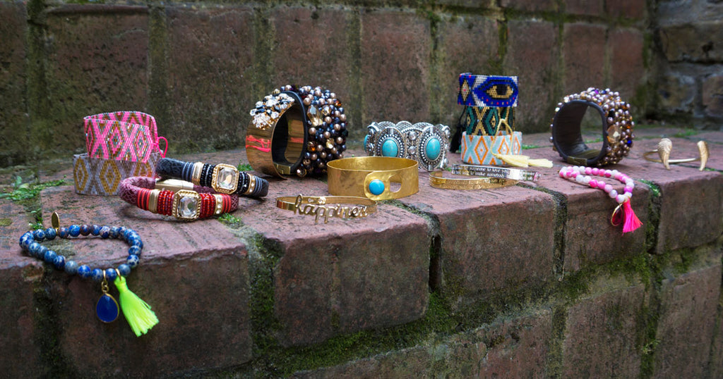 Stacked bracelets, bangles and cuffs at LVBT this summer