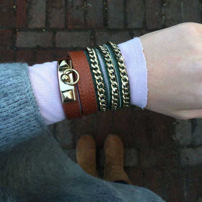 Miss Lesley Leather Bracelets