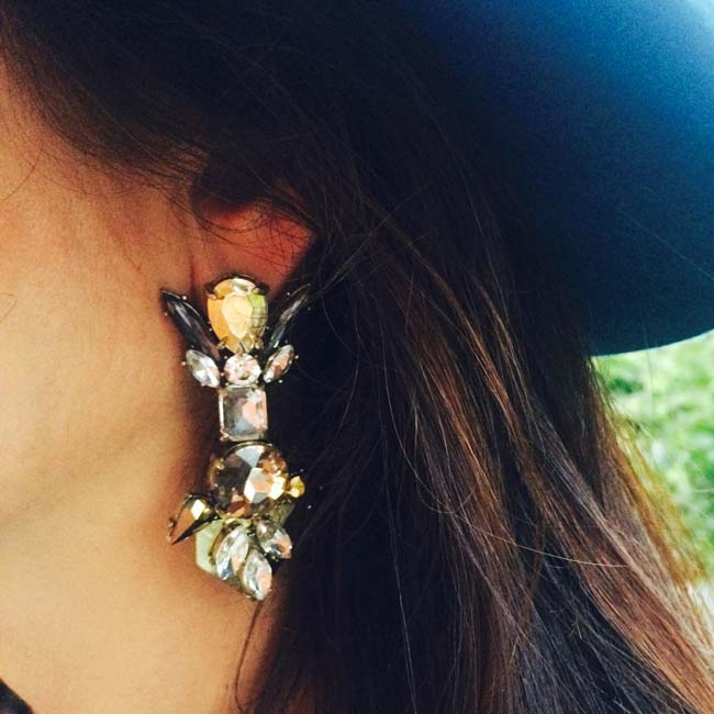 Viola statement earrings