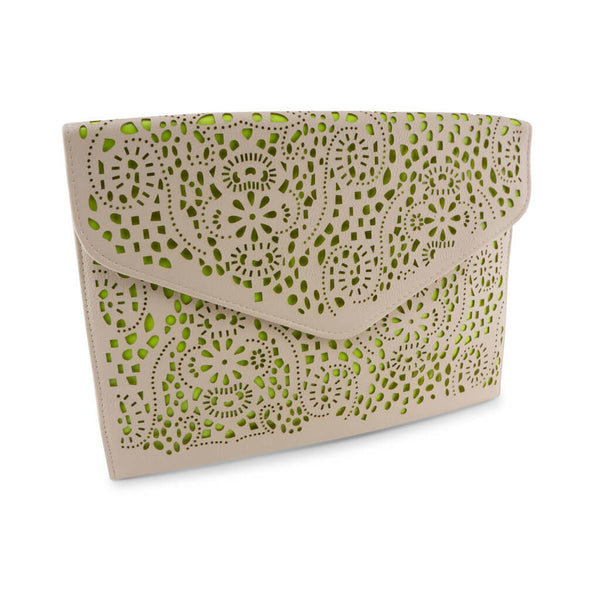 Michelle Ivory and Neon Green Clutch at LVBT