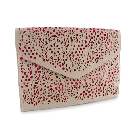 Michelle Ivory and Neon Pink Clutch at LVBT