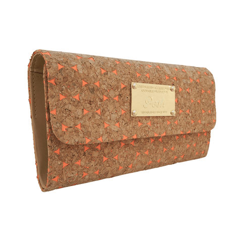 Emma Coral Cork Clutch at LVBT