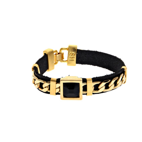 Hagar Satat Gold and Black Cocktail Bracelet at LVBT