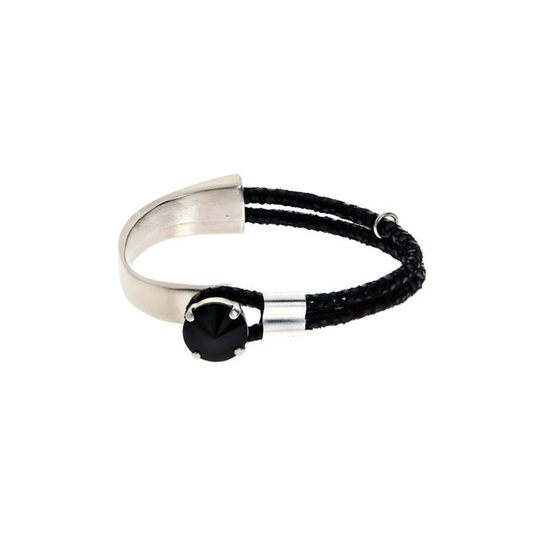 Hagar Satat Black and Silver Queen Stone Bracelet at LVBT