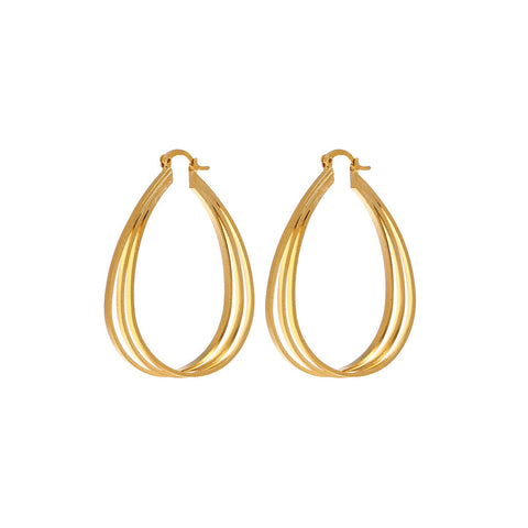 Gold Gypsy Hoop Earrings