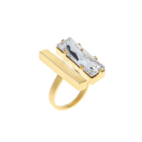 Hagar Satat Gold Castle Ring at LVBT