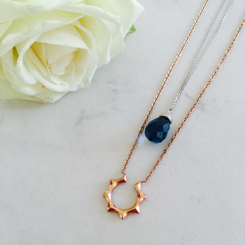 Katarina Silver & Rose Gold Necklace Set
