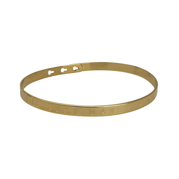 Gold A smile is the best make-up a girl can wear Bracelet