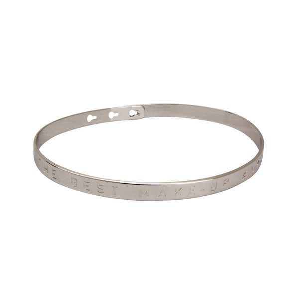 Silver A smile is the best make-up a girl can wear Bracelet