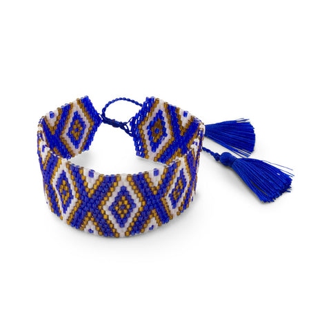 Amadoria Azure Blue, White & Gold Java Bracelet at LVBT